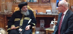 MP Volker Kauder with Pope Tawadros